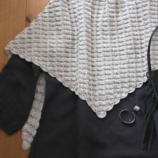 かぎ針編み 三角ショール ストール 「ラティス・ショール」