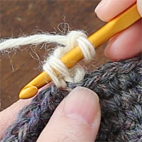 ピコット編み[5] 針を入れました。