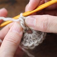 編み目の見方 長編み1目