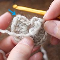 編み目の見方 長編みの立ち上がり