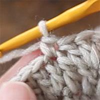 編み目の見方 こま編み1目