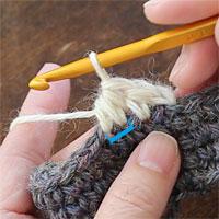 中長編み2目一度[7] 中長編み2目一度が編めました。