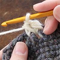 中長編み表引き上げ編み[6] 中長編み表引き上げ編みが編めました。