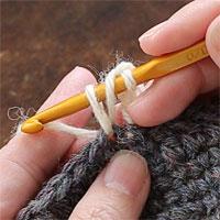 長編み[5] 糸を引き出しました。
