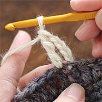 長編表引き上げ編み[7] 長々編みが編めました。