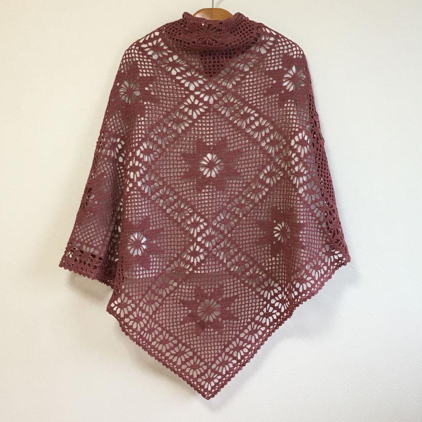 かぎ針編み はちみつはなさんの「さんかく・しかく 2wayショール」作品