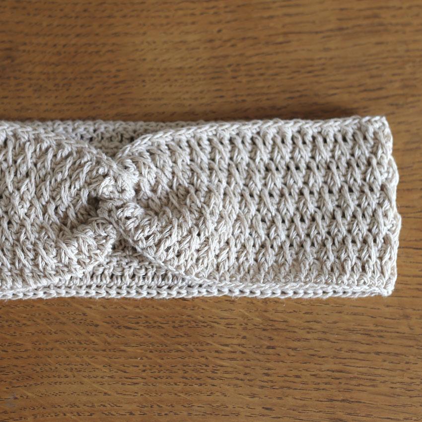 かぎ針編み クロスヘアバンド