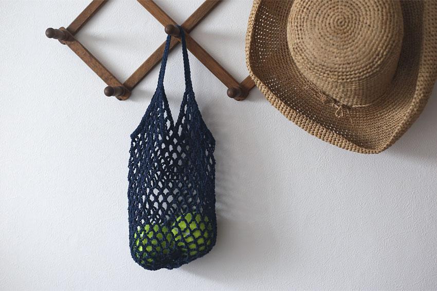 かぎ針編み ネットバッグ 活用イメージ