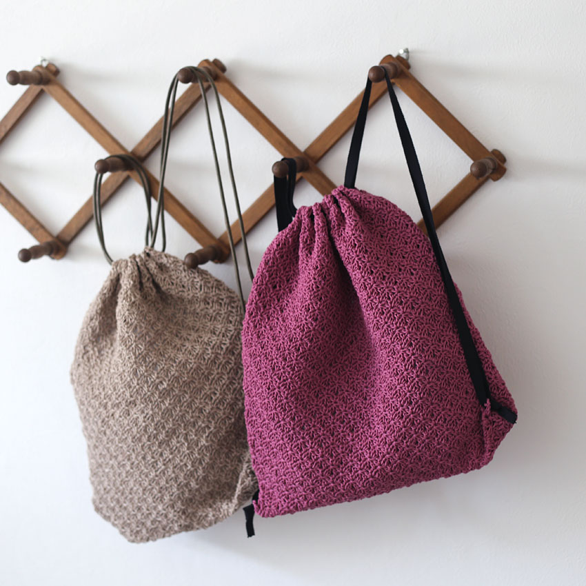 かぎ針編み ナップサック