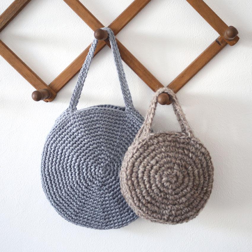 かぎ針編み まんまるバッグ